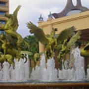 Flying Horses Of Atlantis Art Print