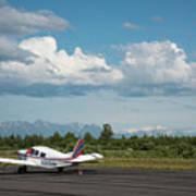 Flying In Alaska Art Print