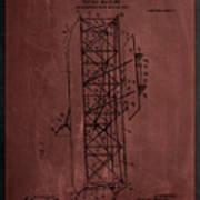 Flying Machine Patent Drawing  Art Print