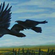 Flying Over The Tanana Flats Art Print by Amy Reisland-Speer
