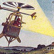 Flying Sentinel, 1900s French Postcard Art Print