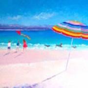 Flying The Kite Art Print