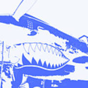 Flying Tiger Blue Art Print