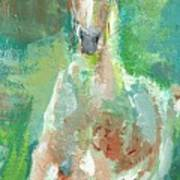 Foal  With Shades Of Green Art Print