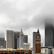 Fog Accents Of Seattle Wa Art Print