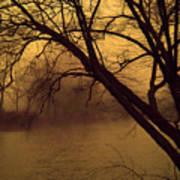 Fog In The Morning. Art Print