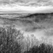 Fog In The Mountains - Pipestem State Park Art Print