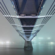 Fog - Millennium Bridge Art Print