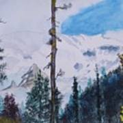 Fog On Mt. Rainer Art Print