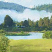 Fog On The Road To Mccall Art Print