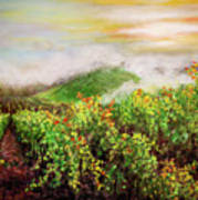 Fog On The Vines Art Print
