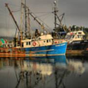 Fog Over Ucluelet Fishing Port Art Print