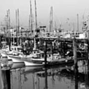 Foggy Boats Art Print