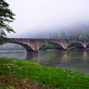 Foggy Bridge Art Print