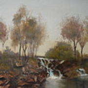 Foggy Creek Art Print