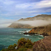 Foggy Day At Big Sur Art Print