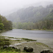 Foggy Day At Loch Lubnaig Art Print