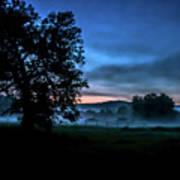 Foggy Evening In Vermont - Landscape Art Print