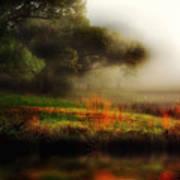 Foggy Morning Mill Pond Art Print