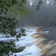 Foggy Morning On Lower Tahquamenon Falls Art Print