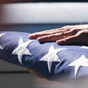 Folded American Flag Art Print