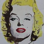 Folded Marilyn Art Print