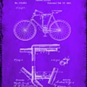 Folding Bycycle Patent Drawing 1e Art Print