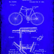 Folding Bycycle Patent Drawing 1h Art Print