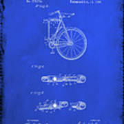 Folding Bycycle Patent Drawing 2d Art Print