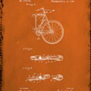 Folding Bycycle Patent Drawing 2e Art Print
