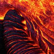 Folding Lava Art Print