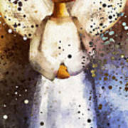 Folk Art Angel Art Print