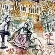 Folk-dancing Art Print