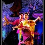 Folk Dancing Of Isaan Art Print