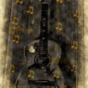 Folk Guitar Art Print