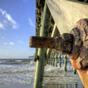 Folly Beach Pier Decay Art Print