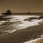 Folly Pier Sunset Art Print