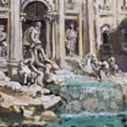Fontana Di Trevi Rome Art Print
