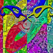 Fontart Series  Cosmic Attraction Art Print