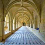 Fontevraud Abbey Cloister, Loire, France Art Print