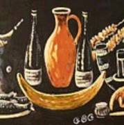 Food And Wine Art Print