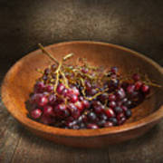 Food - Grapes - A Bowl Of Grapes  Art Print by Mike Savad