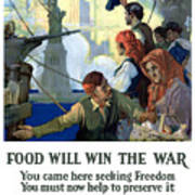 Food Will Win The War Art Print