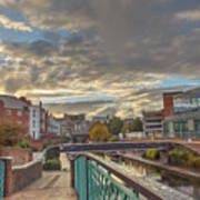 Foot Bridge At Gas Street Basin  Birmingham Art Print