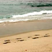 Foot Prints In The Sand.jpg Art Print