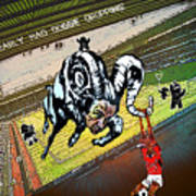 Football Derby Rams Against Nottingham Forest Red Dogs Art Print