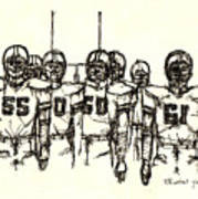 Football Nasties Print by Brett H Runion