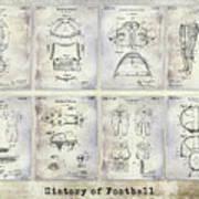 Football Patent History Art Print