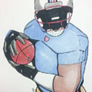Football Player Art Print