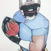 Football Player Art Print by Loretta Nash